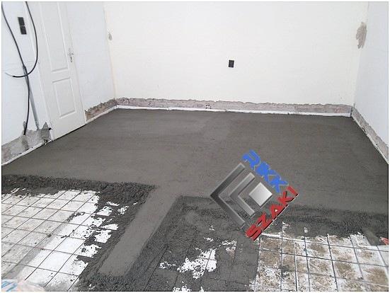 Szoba betonozása