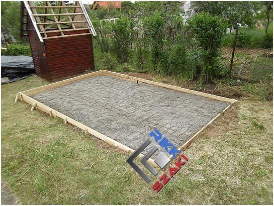 Betonalap készítése